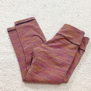 Lululemon multicolor space stripe Capri pants